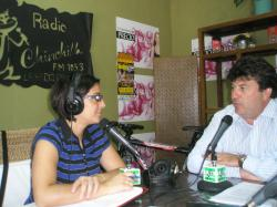 Antonio Serrano, entrevistada por Alicia Collado en Radio Chinchilla.