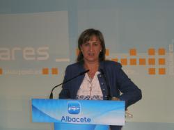 Rosario Miranzo, en la sede del PP de Albacete.