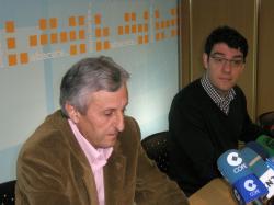 Sixto González y Alvaro Nadal, en la sede del PP de Albacete.