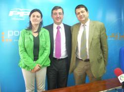 Amalia Gutiérrez, Marcial Marín y Antonio Rojas Gómez.