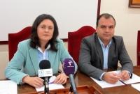 Amalia Gutiérrez y Andrés Martínez en rueda de prensa.