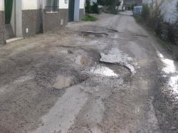 Carretera en Batán del Puerto, en Paterna.