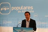 Antonio Martínez, en la sede del PP.