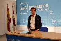 Antonio Martínez en la rueda de prensa.