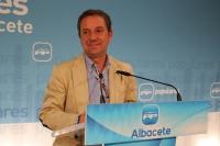 Antonio Martínez en rueda de prensa.