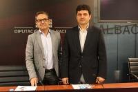 Antonio Martínez y Francisco Navarro, en rueda de prensa.