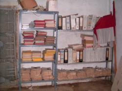 Parte del archivo municipal, en una nave.