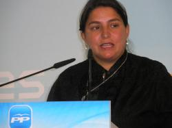 Cesárea Arnedo, en la sede provincial del PP.