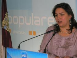 Cesárea Arnedo, en la sede provincial.
