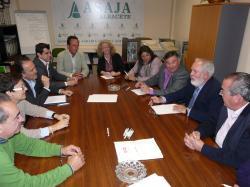 Reunión de Cañete con ASAJA de Albacete.
