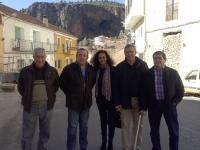 Vicente Aroca y Carlota Romero con el PP de Ayna.