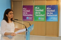 Belén Torres, en la sede provincial del PP.