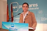 Belén Torres en rueda de prensa.