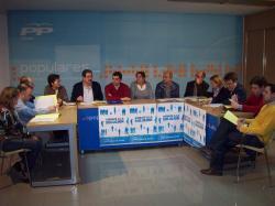 Reunión de la Comisión de Economía y Hacienda del PP.