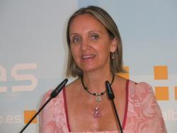 Carmen Casero, en la sede provincial.