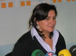 Cesárea Arnedo, en la sede del PP de Albacete.