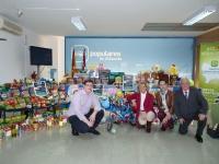 La alcaldesa de Albacete, Carmen Bayod, el concejal de Mayores, Ricardo Llorente, la presidenta regional de NNGG, Cristina Molina,  el presidente de NNGG en Albacete, Max Monasor.