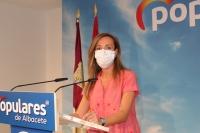 Carmen Navarro, en la sede del PP de Albacete.