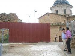 José Miguel Mollá y Antonio Serrano, en el casco antiguo de Caudete.