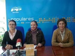 Amalia Gutiérrez, Carmen Casero y Carmen Collado.