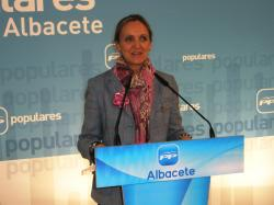 Carmen Casero, en la sede provincial del PP.