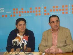 Cesárea Arnedo y Manuel Mínguez, en Hellín.