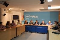Comisión de Economía y Empleo, en la sede provincial del PP.