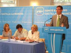 Marcial Marín, durante el Comité Ejecutivo del PP de Castilla-La Mancha.