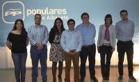En la imagen, algunos de los concejales de Juventud de la provincia de Albacete y miembros de NNGG.
