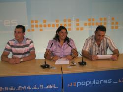 Juan Carlos Martínez, Cesárea Arnedo y Francisco González.