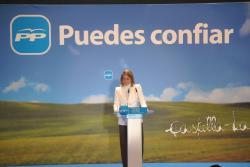María Dolores Cospedal, en Albacete.