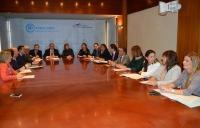 Reunión del Grupo Parlamentario Popular de CLM con la presidenta del Partido, María Dolores Cospedal.