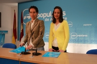 Cristina Molina y María Delicado en rueda de prensa.