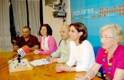 Grupo municipal del PP en Hellín.