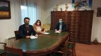 Daniel García, junto a Cecilia Vitoria y Andrés Cuerda, concejales del PP en Ossa de Montiel.