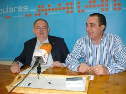 Dimas Cuevas y Manuel Mínguez, en Hellín.
