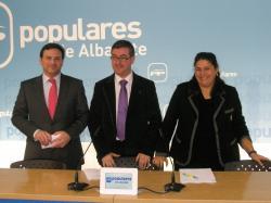 José L. Teruel, Marcial Marín y Cesárea Arnedo.