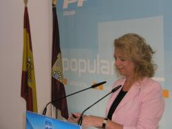 Encarnación Naharro, en la sede provincial del PP.