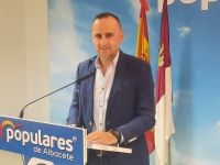 Fermín Gómez, en la sede del PP de Albacete.