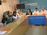 Reunión en la sede del PP de Albacete.