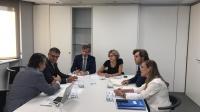 Carmen Navarro, en un momento de la reunión del Partido Popular para afrontar el problema de la despoblación.