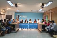 Reunión en la sede provincial.