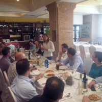 Almuerzo con alcaldes y portavoces del PP en La Manchuela.