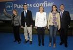 Mª Dolores de Cospedal, con los cabezas de lista en las elecciones autonómicas.