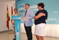 Francisco Cañizares, Cesárea Arnedo y Antonio Martínez en rueda de prensa.