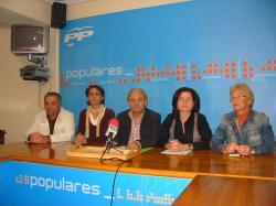 Concejales del PP de Hellín.