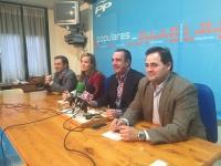 Antonio Martínez, Manuel Mínguez, Carmen Navarro, y Paco Núñez, en la rueda de prensa de Hellín.