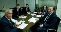 Reunión en la sede nacional del PP.