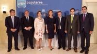 Cospedal, junto a los presidentes provinciales del PP.