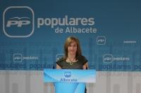 Irene Moreno, en la sede provicial del PP.